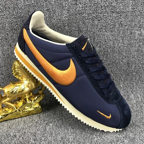 Nike Classic Cortez Nylon  Dark Blue Orange