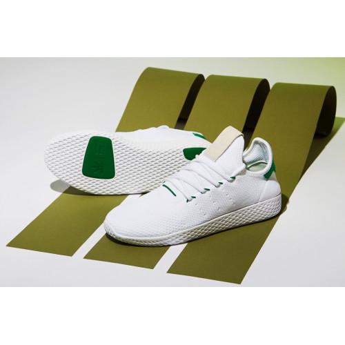 Adidas X Pharrell Williams Tennis Shoes White Green
